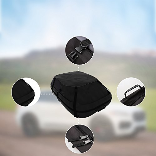 Dozenla Car Roof Top Cargo Bag Vehicles Waterproof Storage Carrier Luggage Travel Organizer [US Stock] by Dozenla (Image #6)