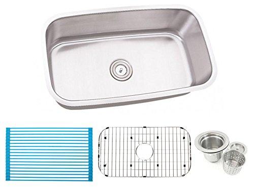 30 Inch Stainless Steel Undermount Single Bowl Kitchen Sink – 16 Gauge Free Accessories