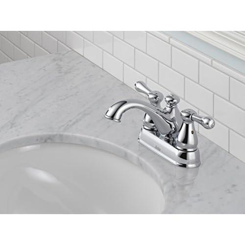 Delta 2578LF-278 Leland Two Handle Centerset Lavatory Faucet, Chrome 60%OFF
