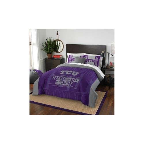 y Officially Licensed NCAA TCU Horned Frogs Modern Take Full/Queen Comforter and 2 Sham Set (Tcu Set)