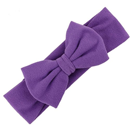 DZT1968® bébé fille plus récent Turban bandeau Zandana bandeau noué avec Bowknot (violet)