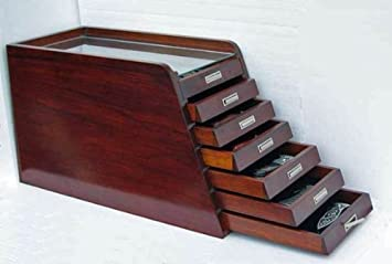 Fancy Rosewood Collector Knife Display Tool Storage Cabinet Case, Solid  Rosewood, KC03