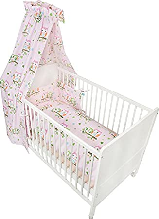 Fillikid Bettwäsche Set Basic 100x135 Eule Rosa Amazonde Baby