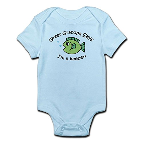 CafePress Great Grandpa Says I'm a Keeper! Baby Onesie - Cute Infant Bodysuit Baby ()