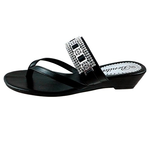 Bonita Women's Wedge Sandals Flip Flops Shoes BABY-104