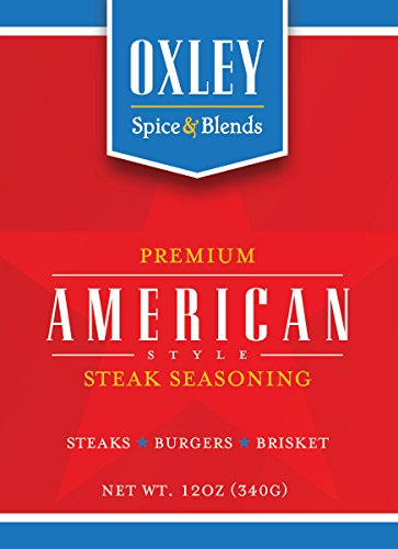 Oxley Spice & Blends American Applewood Steak Seasoning for Steak, Burgers, Brisket, Wild Game, Elk, Deer, Bison, BBQ, Made in USA (American)