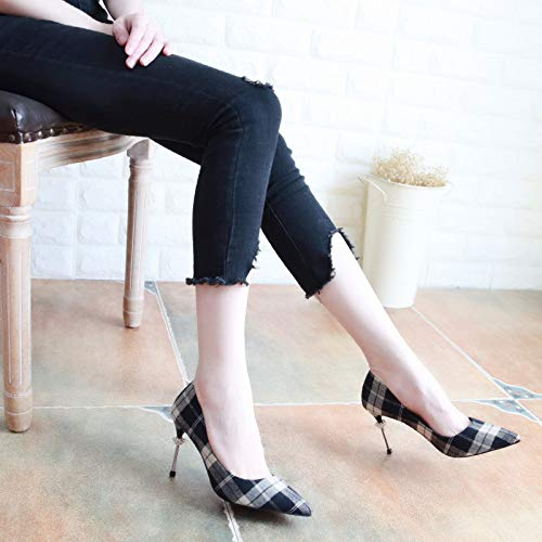 Slim Gules KPHY In Shoes Shoes Diamond Thirty Women'S Single High Autumn And Are Slim Five Shallow 7Cm Heel f1qwf