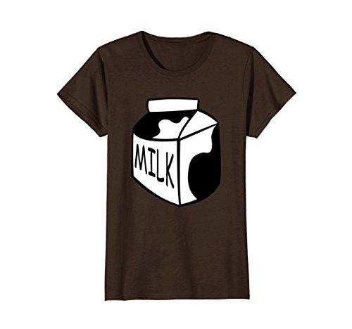 Womens Funny Last Minute Halloween Costume Milk T-Shirt Big Tee Medium (Cute Last Minute Halloween Costumes For Women)