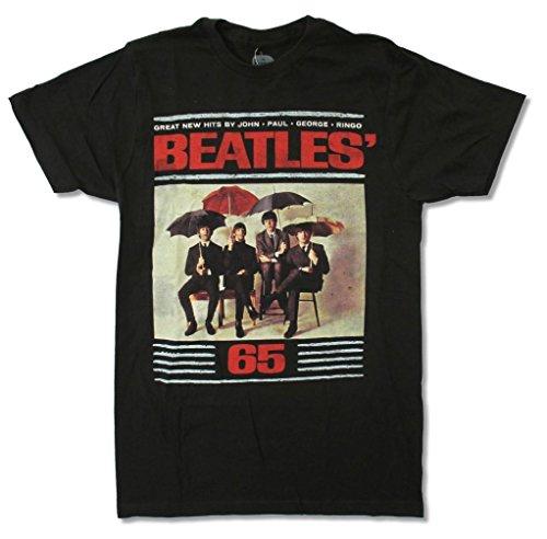 """Adult The Beatles """"65 Umbrellas"""" Black T-Shirt"""