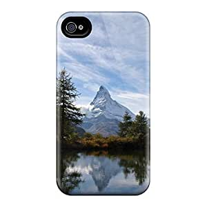 CnMWQeJ4302tyCgP Tpu Phone Case With Fashionable Look For Iphone 4/4s - Matterhorn Lake by icecream design