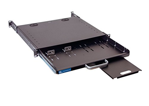 1U Compact rack mount keyboard drawer with retractable mouse pad for right or left hand operator supports 2 post and 4 post rack cabinet by IAENCLOSURES (Image #7)