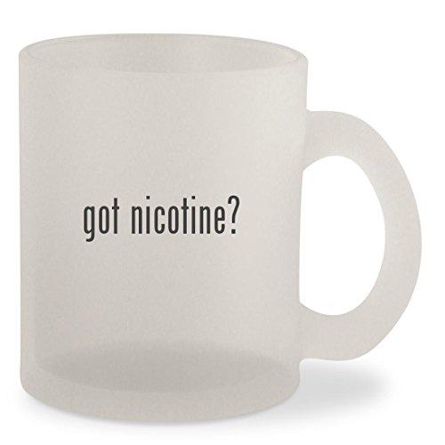 got nicotine? - Frosted 10oz Glass Coffee Cup Mug
