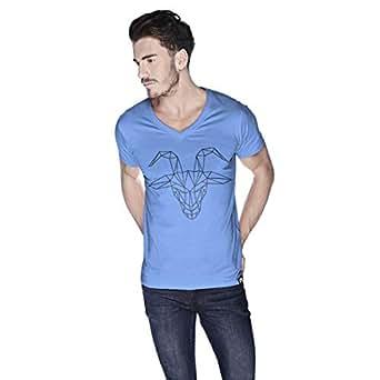 Creo Goat Animal T-Shirt For Men - L, Blue