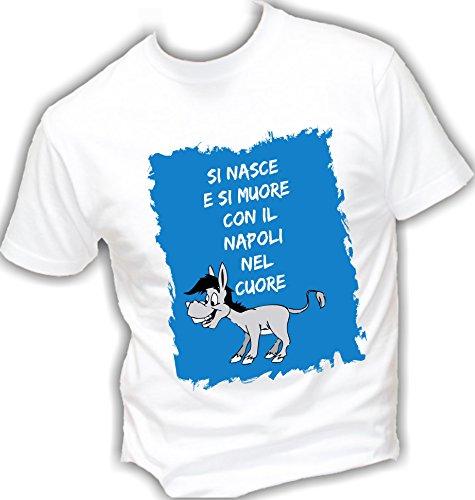 Italy Super Top Basic Qualità Azzuri In Cotone E Nel Cool Uomo Nasce Napoli Bianco Muore shirt Fashion Con Vestibilità Made Il Street Si Napoletani Cuore T IYqSw
