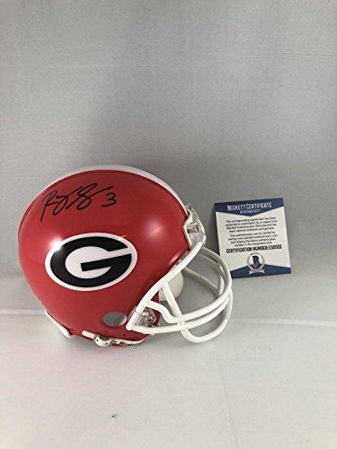 Roquan Smith Autographed Mini Helmet - Georgia Bulldogs Bas Beckett - Beckett Authentication - Autographed College Mini Helmets ()