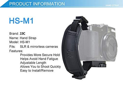 JJC HS-M1 Microfiber PU Leather Hand Strap for Camera