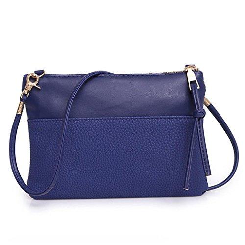 Quistal Leather Bag Blue By Crossbody Messenger Womens Tote PU Mini Handbag Satchel wSRB55vx1q
