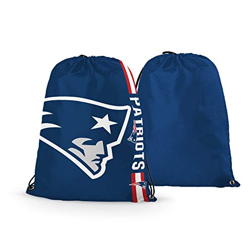 (RongJ- store NFL Football Basketball Team Logo Drawstring Backpack Gym Bag - can Pick Team (New England Patriots))