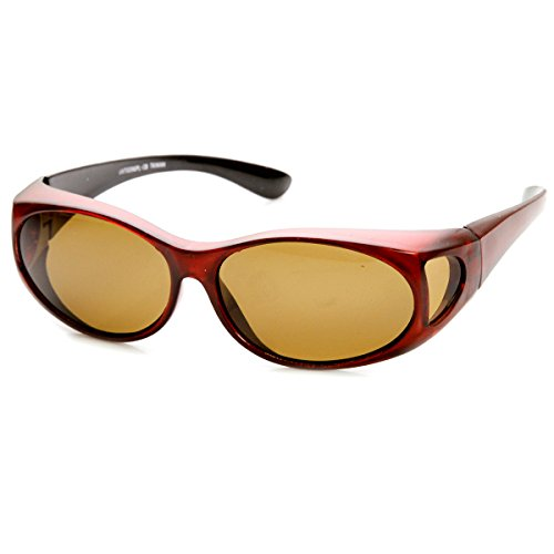 zeroUV - Polarized Cover Fit On Overlap Full Protection Sunglasses - Sunglasses Full Coverage