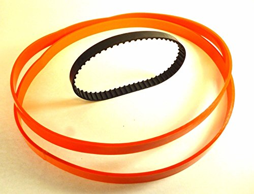 (Set of 2 Urethane Band TIRES & DRIVE BELT for RYOBI Model BS901 BandSaw)