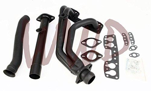 Hooker Gasket Pickup Header (Performance Black Exhaust Headers Manifold System Kit For 90-95 Toyota Pickup/4-Runner 2.4L 22R/22RE2WD Only)
