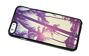 1888998578676 [Global Case] Los Angeles USA California Thank you Venice Beach Sunset City of Angels Urban Landscape Sunshine Sun Happy Palmtree Vacances (BLACK CASE) Snap-on Cover Shell for HTC E4