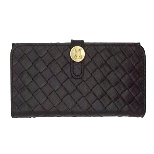 Uunique Luxe Exotic Folio Wallet Weave Schutzhülle für iPhone 6/6S–Schwarz