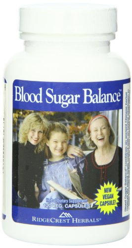 RidgeCrest Blood Sugar Balance, Herbal Support Capsules, 120 Vegetarian Capsules (120 Ridgecrest Herbals Capsules)