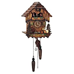 Quartz Melodies Black Forest House Cuckoo Clock