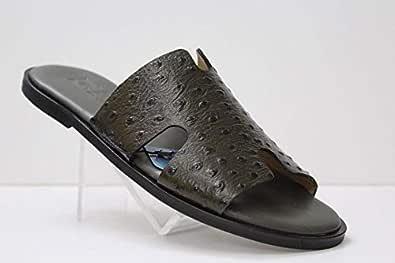 Nebras Brown and Black Slipper for men
