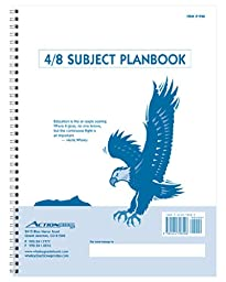 P48 -- 4/8-Subject Whaley Planbook (9 x 12 inches) -- 40 weeks + Seating Chart -- Organized lesson planning from a well established academic supplier.