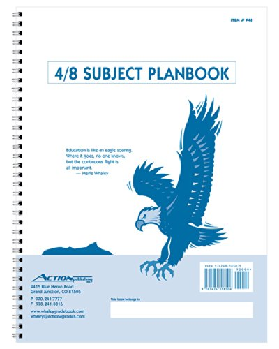 (Whaley Planbook (9 x 12 inches) 4/8-Subject Grade Book For Lesson Plans, Attendance And Seating Chart, 40 Weeks (P48))