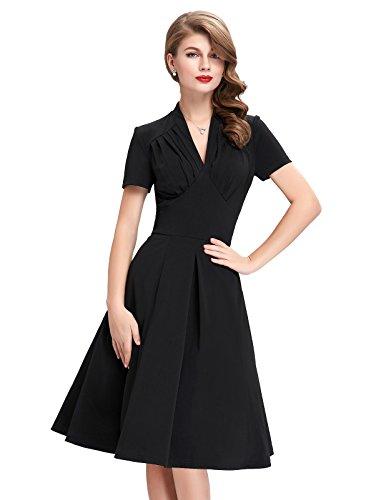 V-Neck-Wiggle-Dresses-for-Women-Short-Sleeve-BP70-BP199