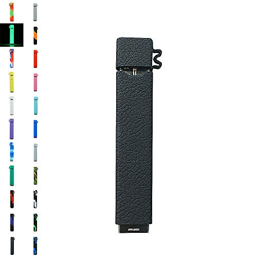 DSC-Mart Texture Case for JUUL, Anti-Slip Silicone Skin Cover Sleeve Wrap Gel Fits JUUL Pen (Black)