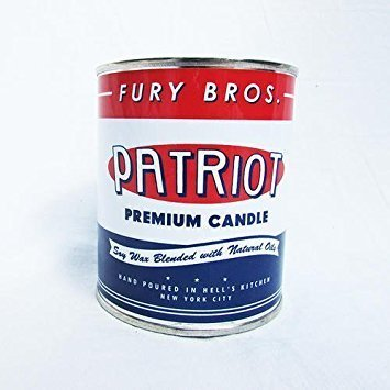 Fury Bros. Patriot Scented Candle for Men, Scented with Fire Smoke and Fresh Cut Tobacco (1 Pint ...