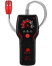 Gasmelder aardgas, gaslekdetector, draagbare methaangasdetector voor lekken en propaan, butaan brandbaar gas, kanaalgas, methaan, LPG, LNG, | 30,5 cm (12,6 inch) flexibele hals, geluid en led-alarm