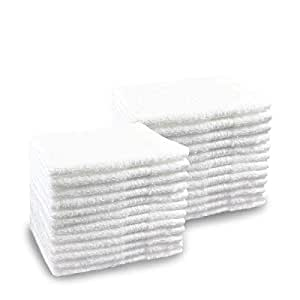 Pacific Linens 24-Pack White 100% Cotton Towel Washcloths ... - photo#36