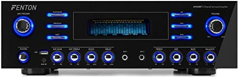 Fenton AV340BT 5Kanaals Surround Sound Versterker 510 Watt met Bluetooth USB en MP3