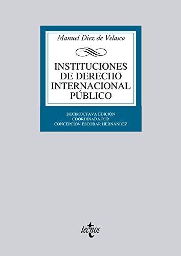 Descargar Libro Instituciones De Derecho Internacional Público De Manuel Diez Manuel Diez De Velasco