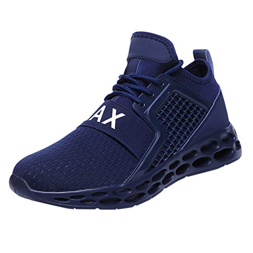(Men's Running Shoes Lightweight Shockproof Walking Shoes Cushioning Men Sneakers for Gym Sports Casual Athletic Outdoor Blue)