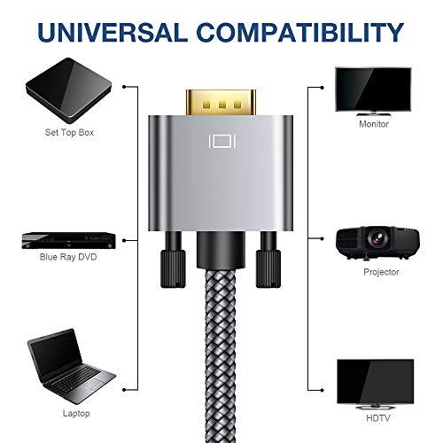 VGA JSAUX VGA Cord SVGA HD15 to Cord Compatible Laptop, Display, and More