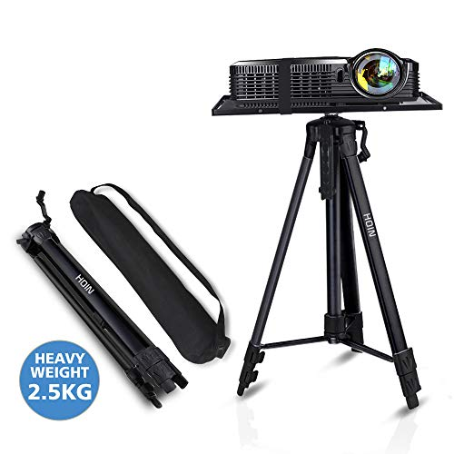 "Projector Stand,Laptop Stand,Aluminum Multifunction Tripod Stand with Tray Adjustable Tripod Laptop Projector Stand, 17"" to 46"" Universal Device Stand Perfect for Stage or Studio Use"