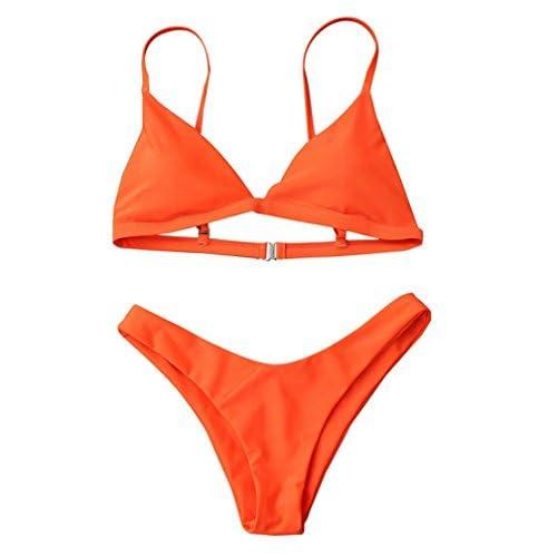 Vovotrade Femmes Maillots de Bain Push-Up Bra Rembourré Plage Bikini Ensemble Style de Mode Classique