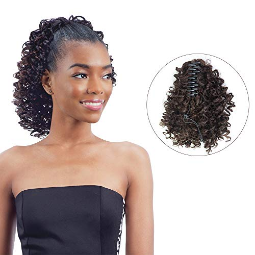 Search : Beauty Angelbella 13` Synthetic Clip on Ponytail For African American Women Fake Extension Hairpiece (Dark Brown)