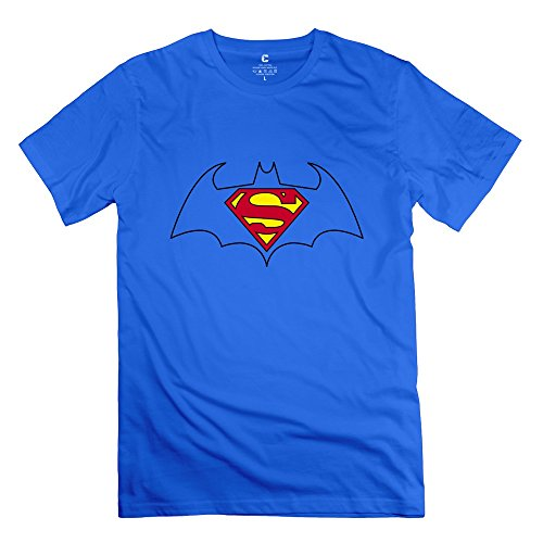 BXGD- Men's Graphic T-shirts Bat Girl Superman Size XS RoyalBlue