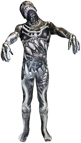 Skulll & Bones Skeleton Morphsuit Kids Costume -