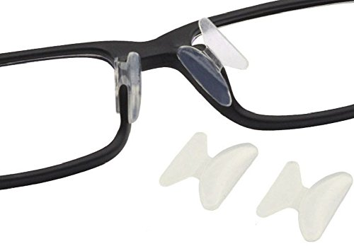 AM Landen 2.5mm Transparent Non-slip Silicone Nose Pads for Eyeglasses (Transparent, 2.5mm-2 - Glasses Nose Piece