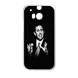 HTC One M8 Cell Phone Case White hc23 jerry seinfeld comedian actor JNR2230917