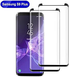 Bestfy Samsung Galaxy S9 Plus Screen Protector, [3D Curve Edge] [HD Clear] [Case Friendly] Tempered Glass Screen Protector for Samsung Galaxy S9 Plus (2 Pack, Black)
