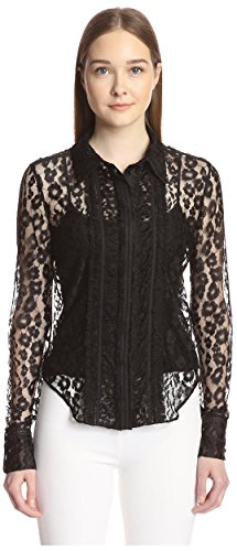 Chloé Women's Leopard Lace Blouse, Black, 34 ()